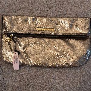 Victoria secret gold purse